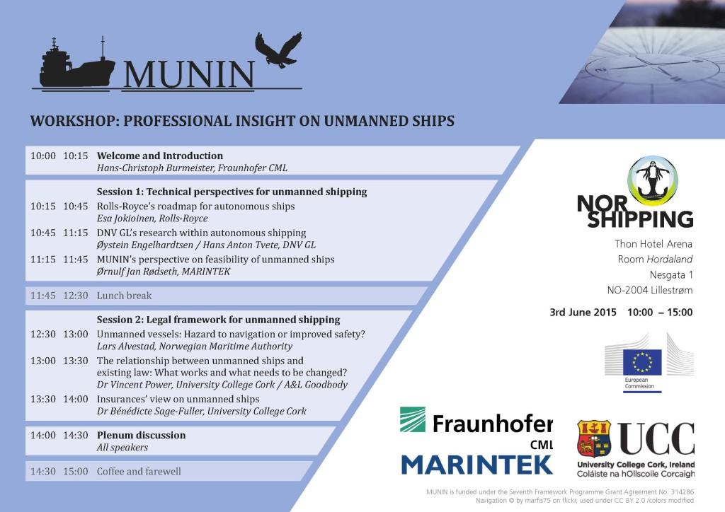 MUNIN - Workshop - Norshipping - Agenda - final